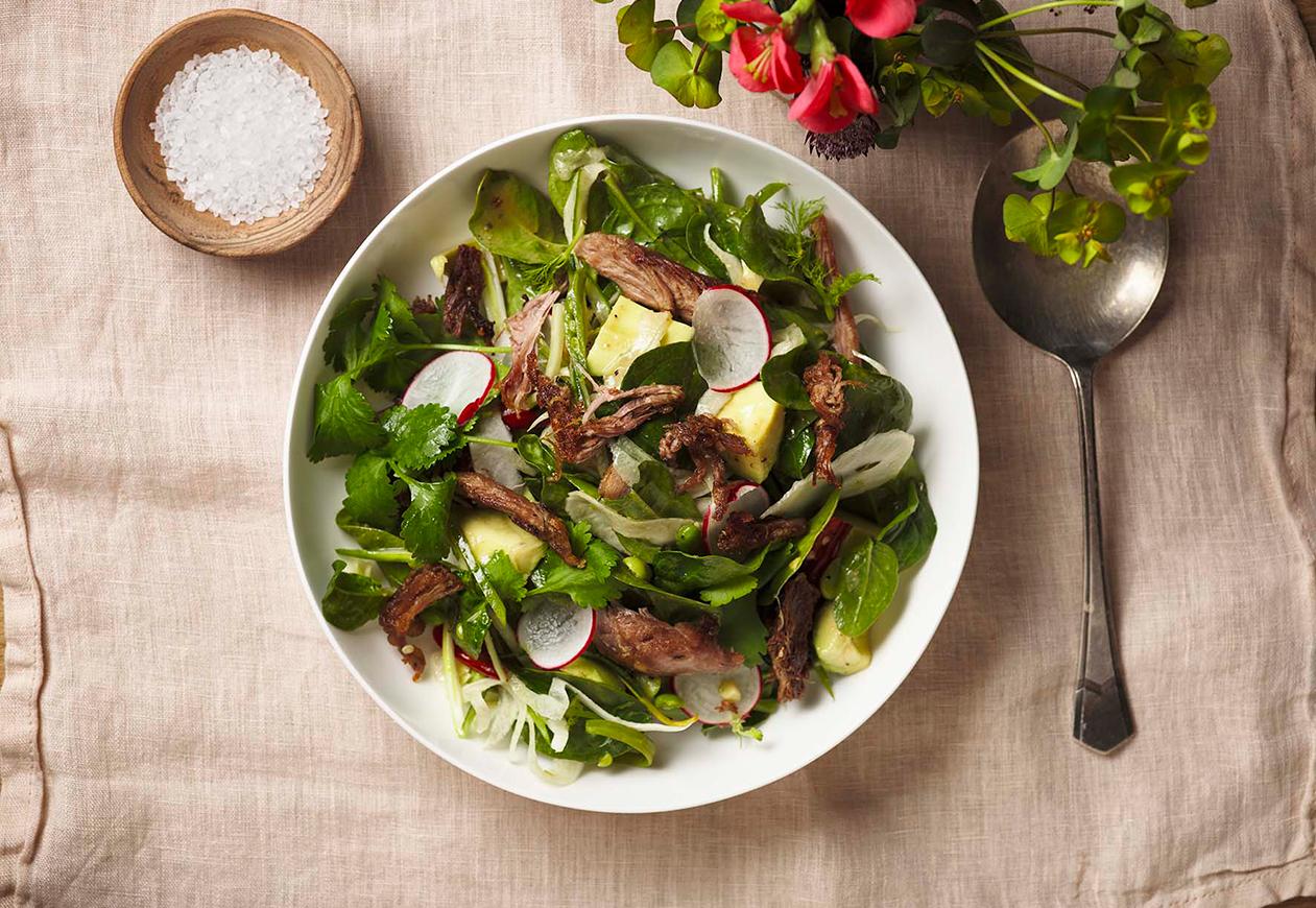 Crispy-Duck-and-Avacado-salad