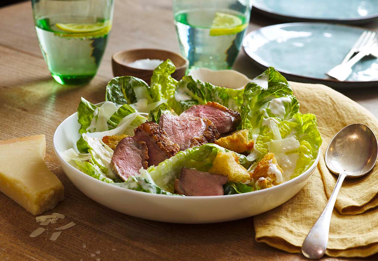 Duck-caeser-salad